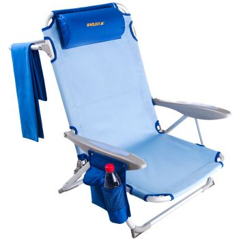 WEJOY Adjustable 4-positon Folding Beach Camping Chair WF1905