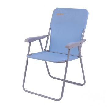 WEJOY High Seat Beach Chairs Lightweight Collapsible Chair with Straps Pockets, Easy to Carry, Super Breathable, Hold Up to 300Lbs, Blue