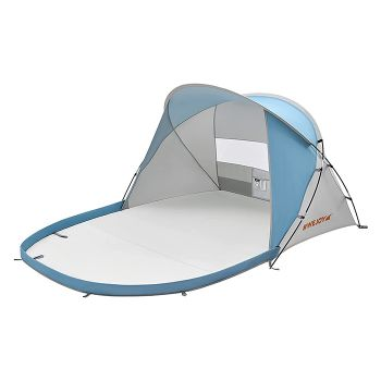 WEJOY Beach Tent Sun Shade Shelter for 2-4 Person, Portable Lightweight Sun Shade Canopy Cabana with UPF 50+ UV Protection, Extendable Floor, Ventilating Window, Carry Bag, Stakes and Tent Poles
