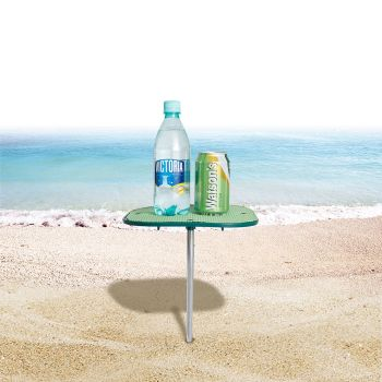 WEJOY Portable Beach Table With No-Slip Surface Prevents Spills WA0001