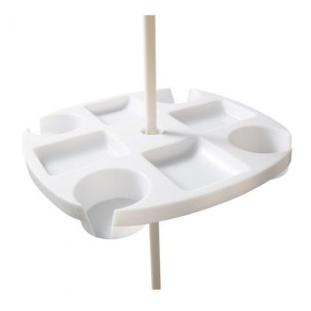 WEJOY Beach Umbrella Table With 4 Cup Holders WA0000